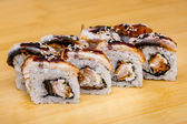Sushi roll set with eel — Stock Photo
