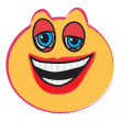 Laughing face — Stock Vector