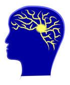 Hjärnkapacitet — Stockvektor
