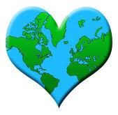 Love Earth — Stockvektor