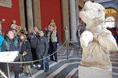 Touristes au musée du vatican — Photo