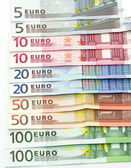 Euro banknotes as background — Stock Photo