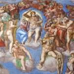 Страшный суд Микеланджело — Стоковое фото