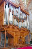 Christian church organ — Stock Photo