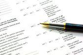 Completing application form — Zdjęcie stockowe