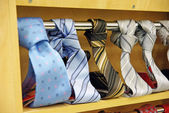 Men's necktie shop — Stock Photo