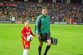 Referee at football game — Stock Photo