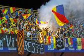 Romanian fans — Stock Photo