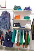 Woman clothes shop — Stock Photo