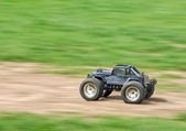 Speeding RC car — Stock Photo