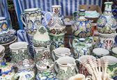 Romanian traditional pottery — 图库照片