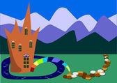 Fairy tale landscape — Stock Vector