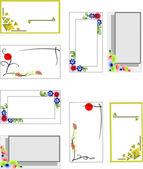 Ange färgglada vertikala och horisontella visitkort. vektor — Stockvektor