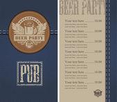 Beer bar — Stock Vector