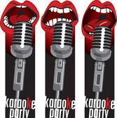 Microphone mouths — Stock Vector