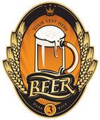 этикетка пива — Cтоковый вектор