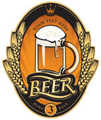Etiqueta de la cerveza — Vector de stock
