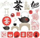 чайная церемония — Cтоковый вектор