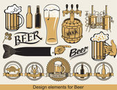 Design beer — Vector de stock