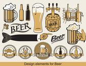 Tasarım bira — Stok Vektör