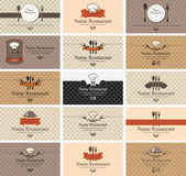 Cartões na comida — Vetorial Stock