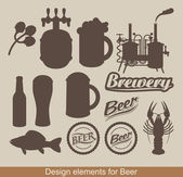 Design of beer — Vector de stock