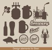 Diseño de la cerveza — Vector de stock