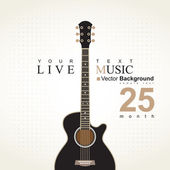 Acoustic guitar — Vector de stock