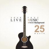 Akustická kytara — Stock vektor