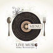 Musical cafe — Stock Vector