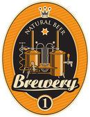 Máquina para hacer cerveza — Vector de stock