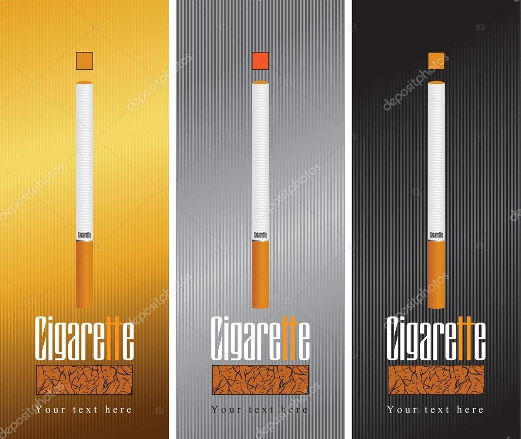 Three banners with cigarette  — Stock Vector #14941331