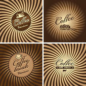 Cafe in retro style — Stockvector