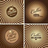 复古风格的咖啡馆 — 图库矢量图片