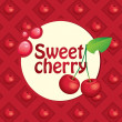 Sweet cherry — Stock Vector