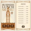 Stock Vector: Business lunches