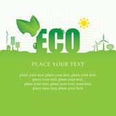Banner eco — Vector de stock