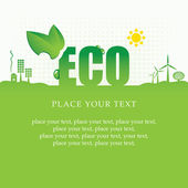 Eco-banner — Stockvektor