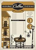 Cafés en tabel — Stockvector