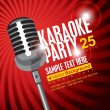 Karaoke parties - Stok Vektr
