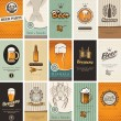 Stock Vector: Topic of beer