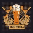 Stock Vector: Pub with live music