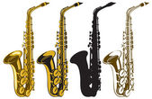 Saxophones — Stock Vector