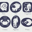 Signs of the zodiac — Vector de stock #19028901