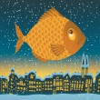 Big fish — Stock Vector