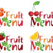 Stock Vector: Fruit menu
