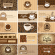 Royalty-Free Stock Vector Image: Cards on coffee