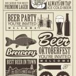 Постер, плакат: Subject of beer