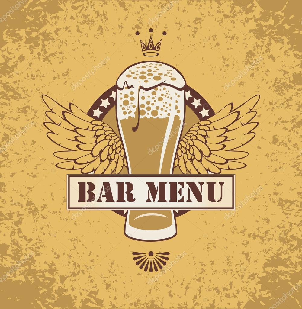 Пиво и крылья стоковая иллюстрация