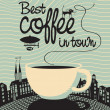 Stock Vector: Best coffee in town